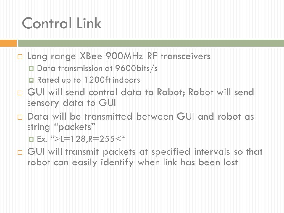 Control Link Long range XBee 900MHz RF transceivers