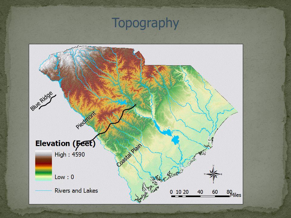 Topography Blue Ridge Piedmont Coastal Plain 3