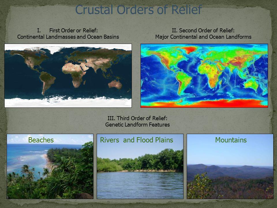 Crustal Orders of Relief
