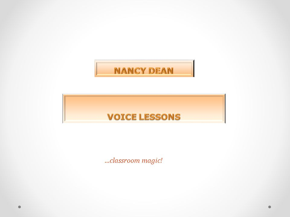 NANCY DEAN VOICE LESSONS