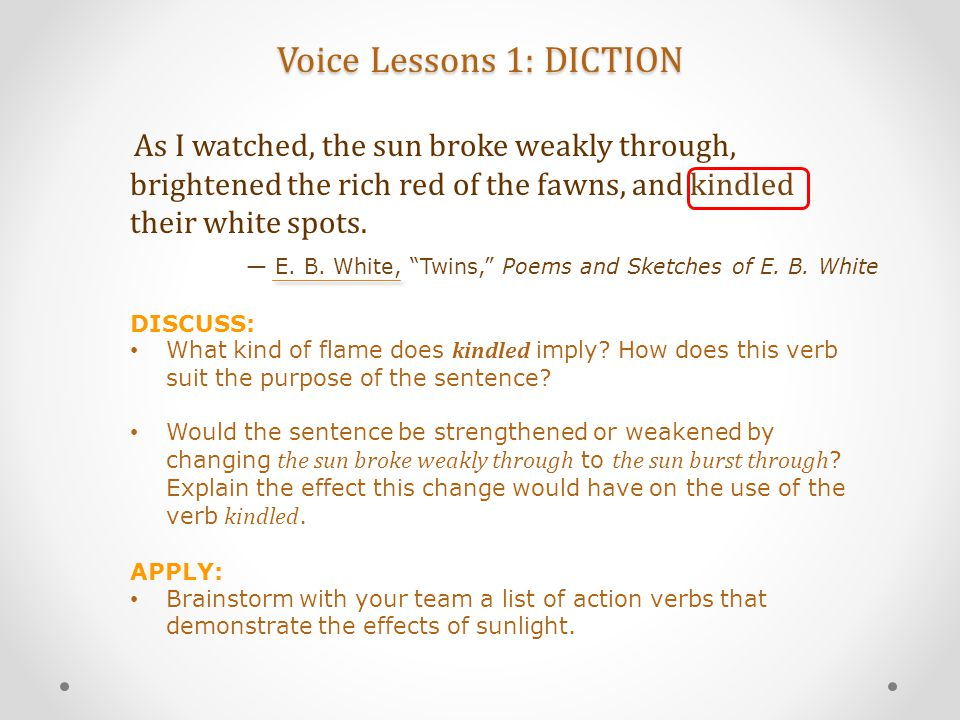 Voice Lessons 1: DICTION