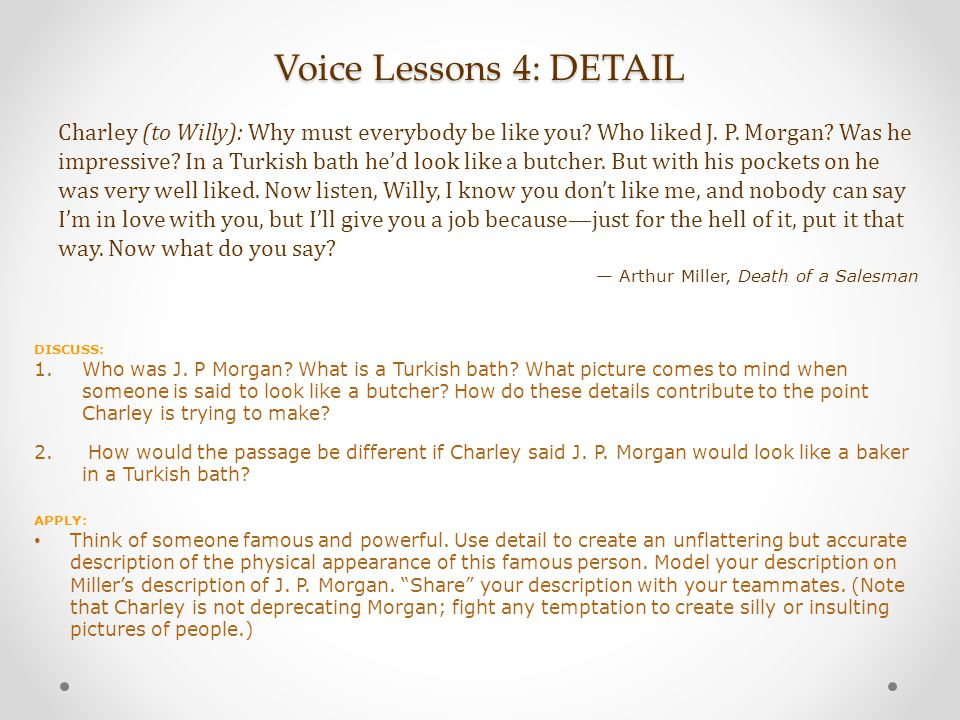 Voice Lessons 4: DETAIL