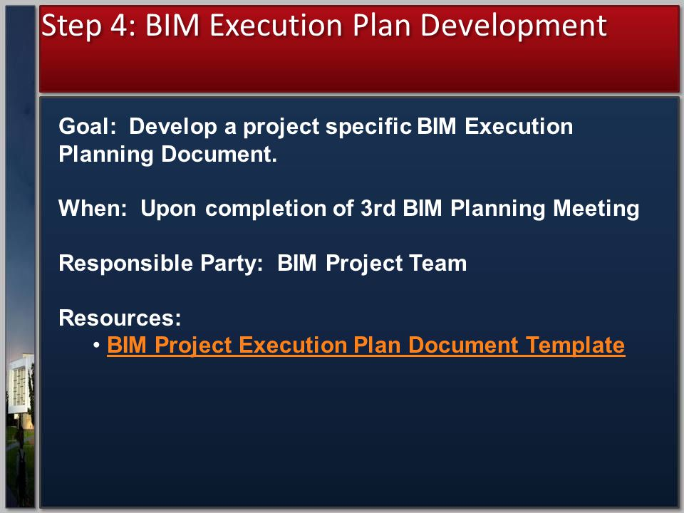 Step 4: BIM Execution Plan Development