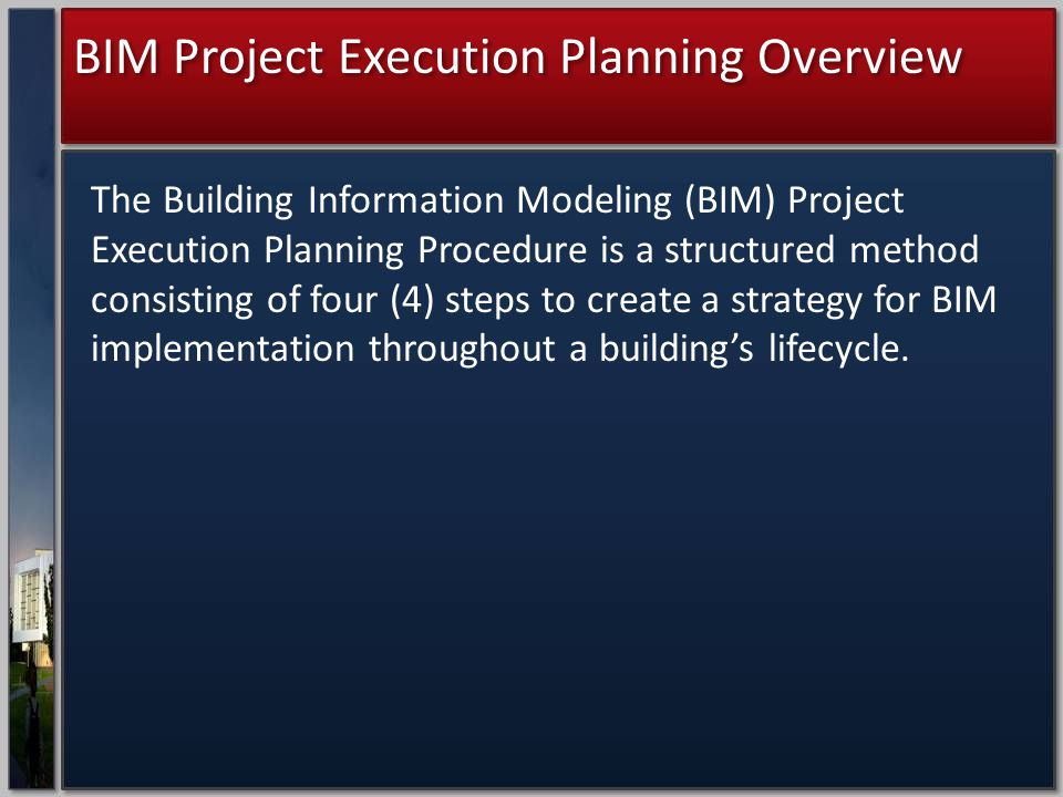 BIM Project Execution Planning Overview
