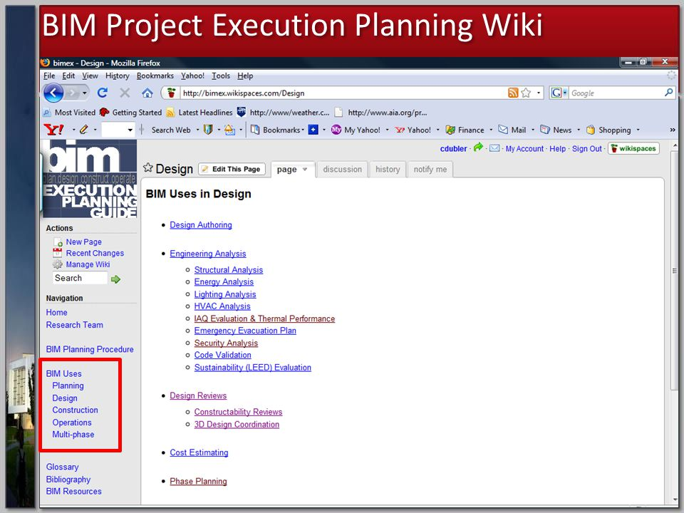 Project Execution Planning For Building Information
