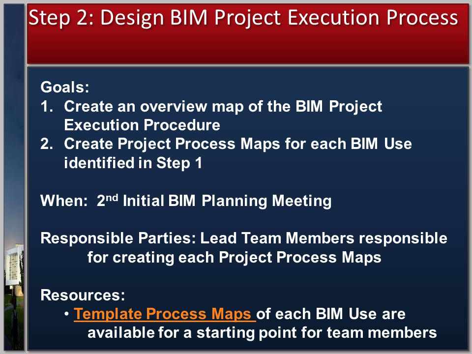 Step 2: Design BIM Project Execution Process