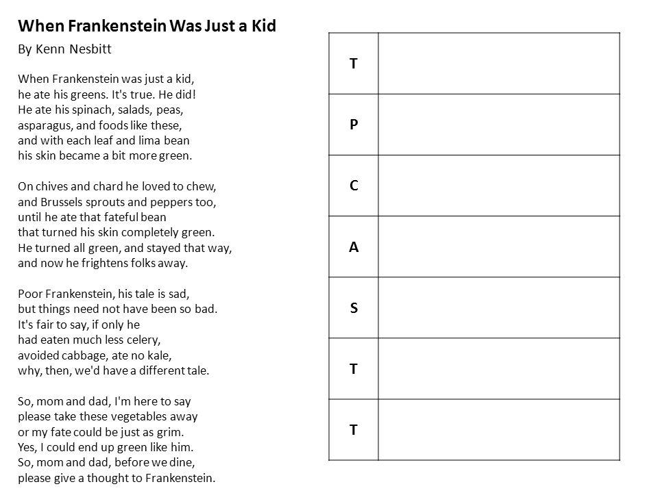 When Frankenstein Was Just a Kid