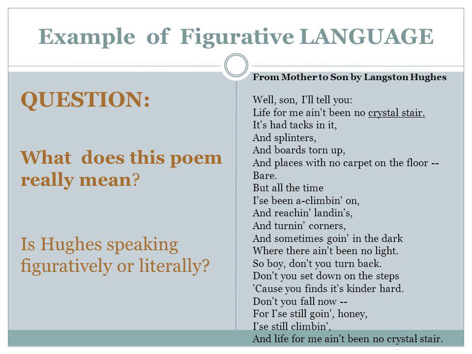 Example of Figurative LANGUAGE