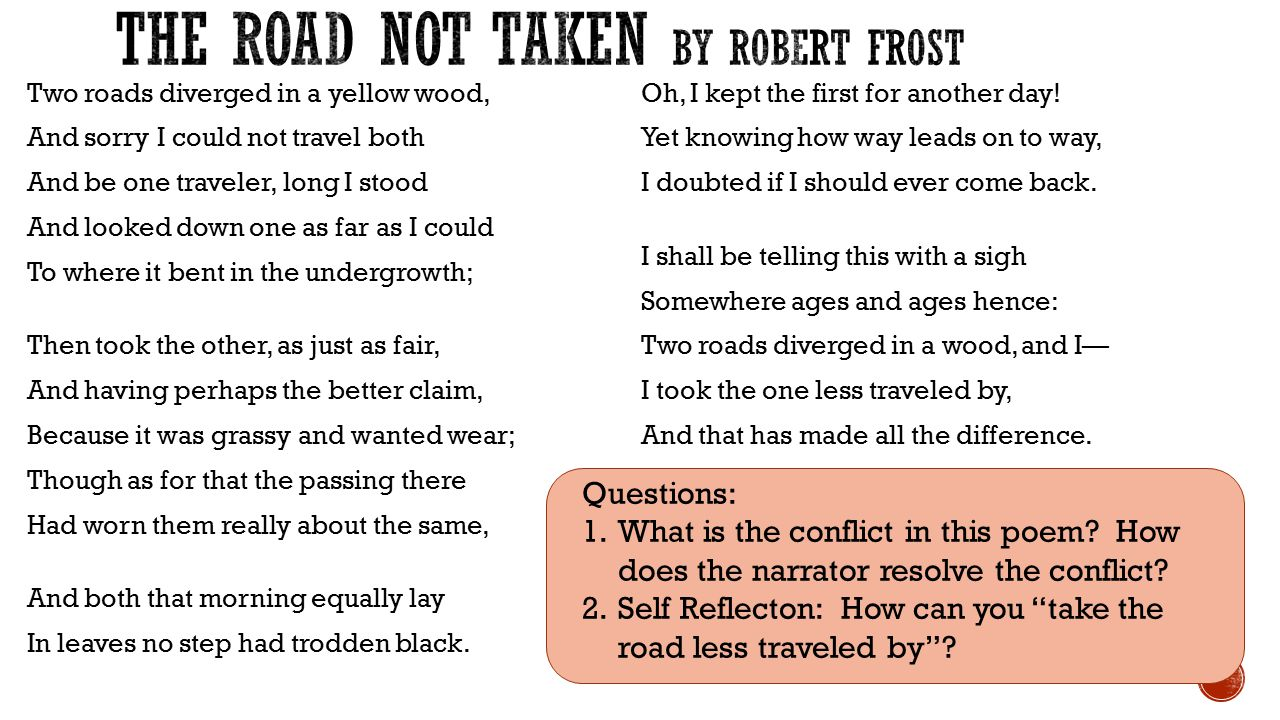 an analysis of the different interpretations in the road not taken by robert frost