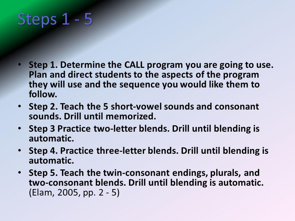 Steps 1 - 5