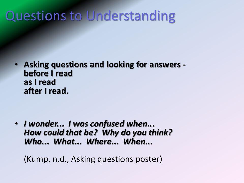 Questions to Understanding