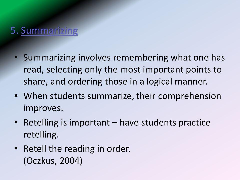 5. Summarizing