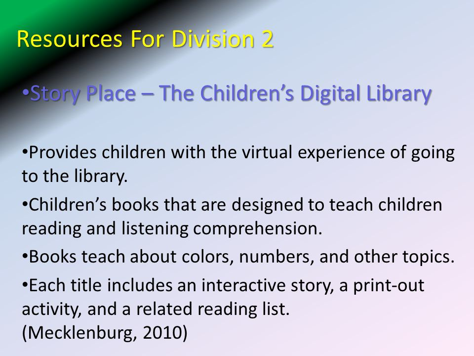 Resources For Division 2