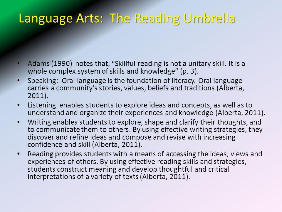 Language Arts: The Reading Umbrella