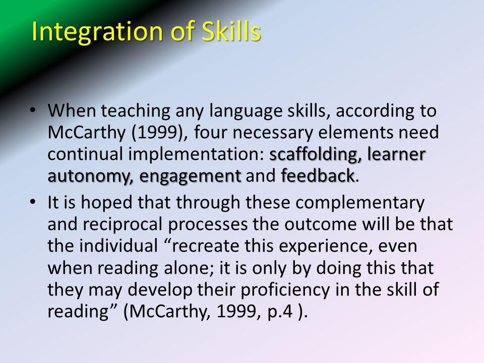 Integration of Skills