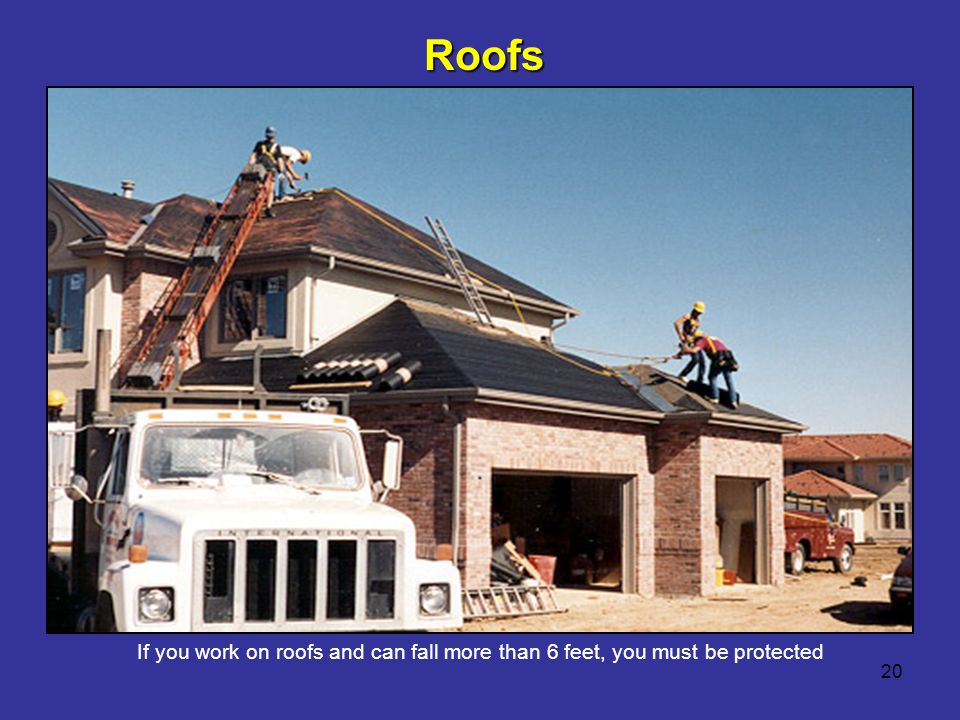 Roofs Reference 1926.501(b)(10) Reference 1926.501(b)(11) - steep roofs. Roofers - First refer to STD 3-0.1A.