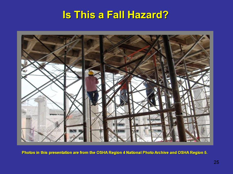 Is This a Fall Hazard 25 25 TRAINER NOTE: Your options are to use: