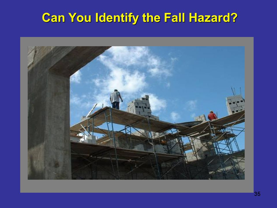 Can You Identify the Fall Hazard