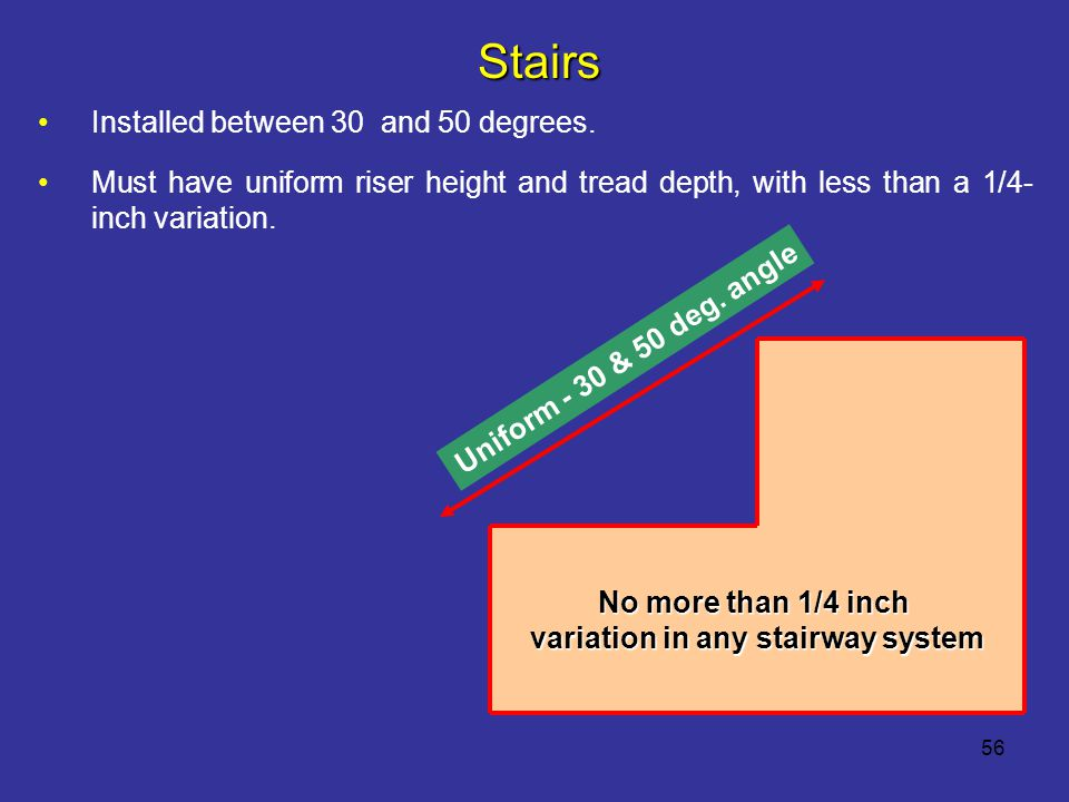 variation in any stairway system