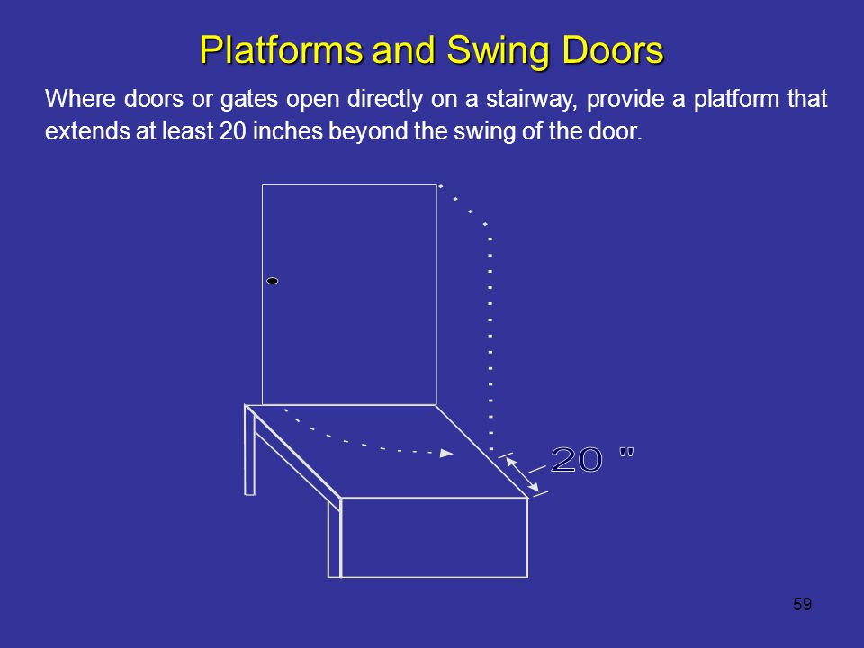 Platforms and Swing Doors