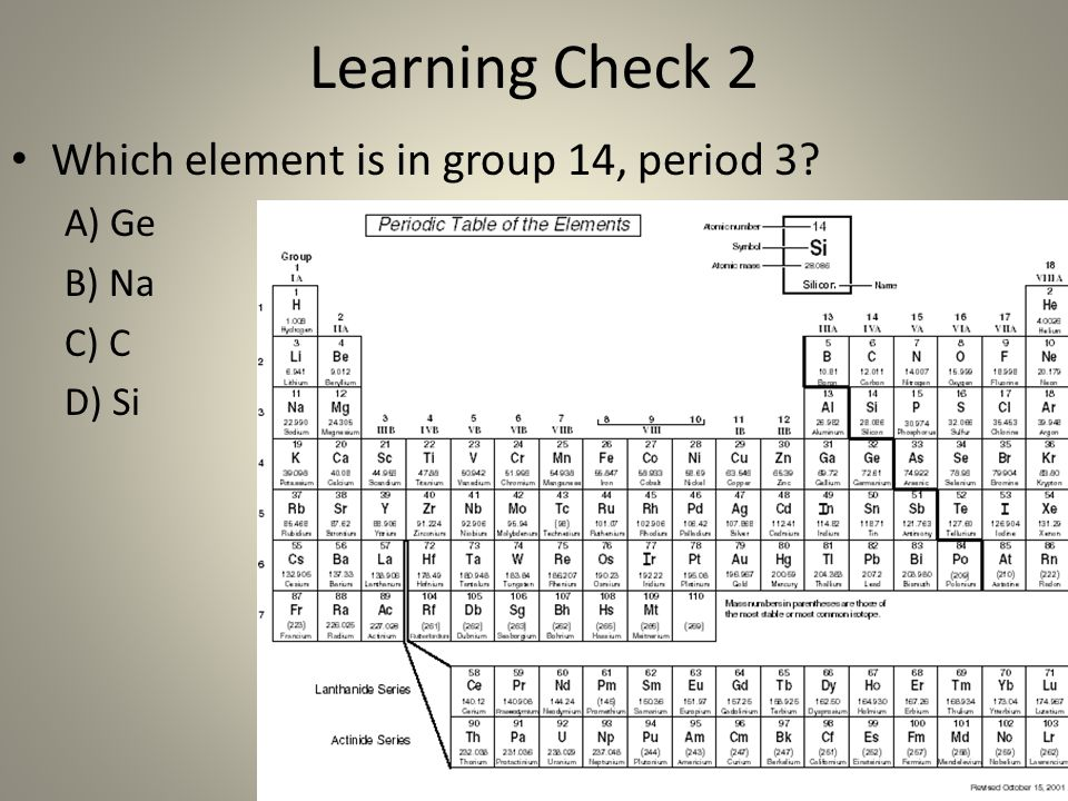 Periodic Table the periodic table group 16 : The Periodic Table Chemistry. - ppt video online download
