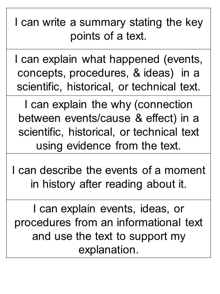 I can write a summary stating the key points of a text.