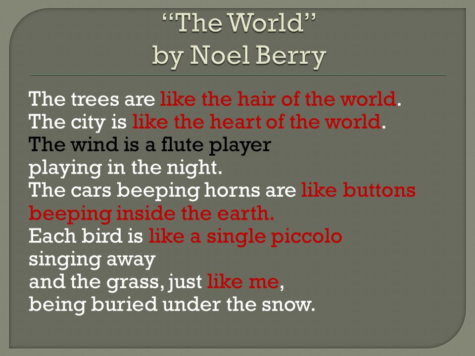 The World by Noel Berry
