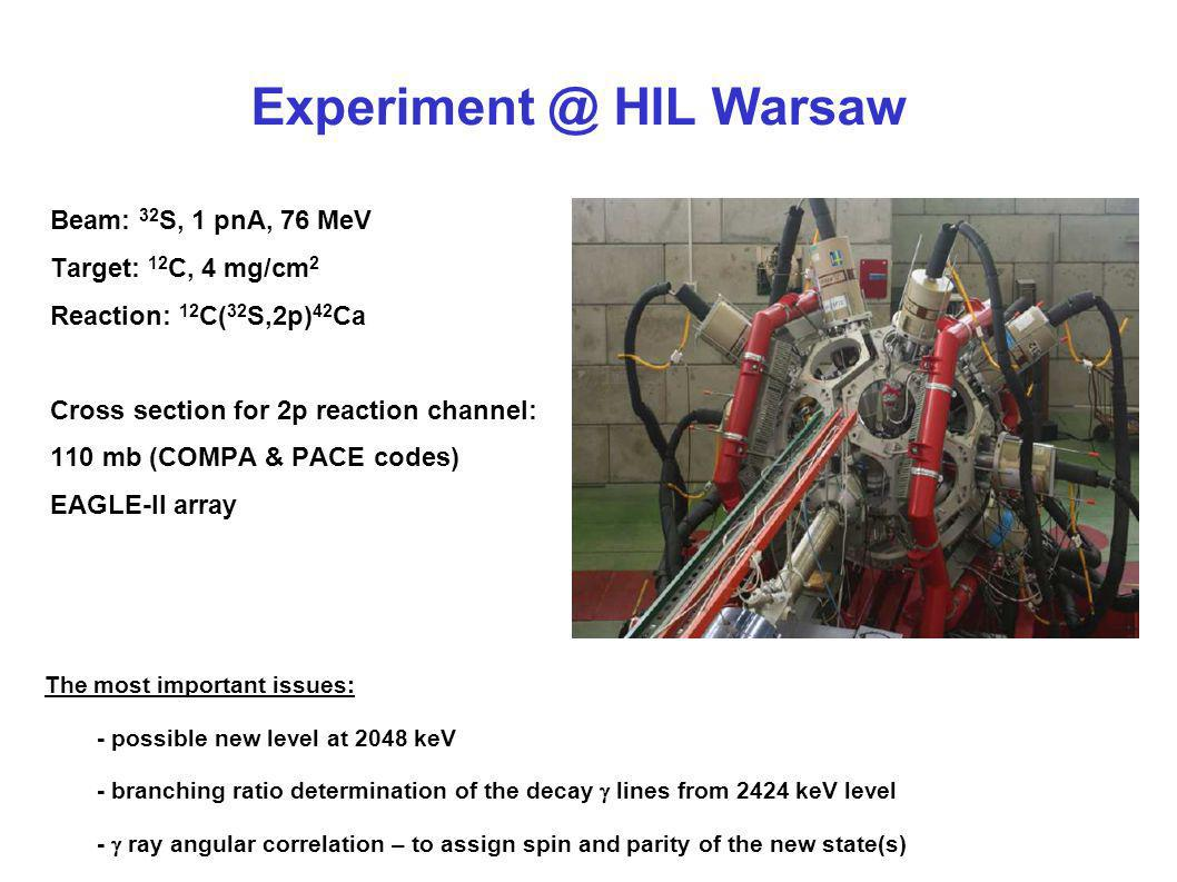 Experiment @ HIL Warsaw