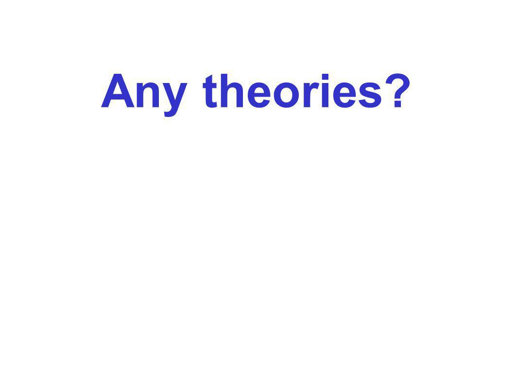 Any theories