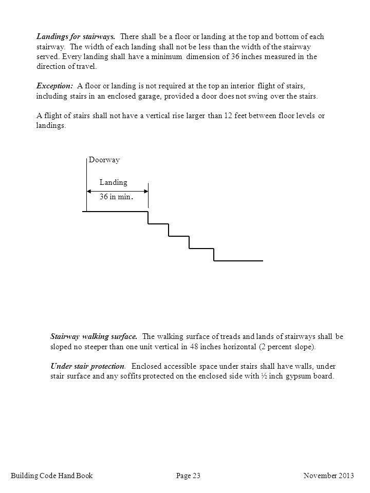 Landings for stairways