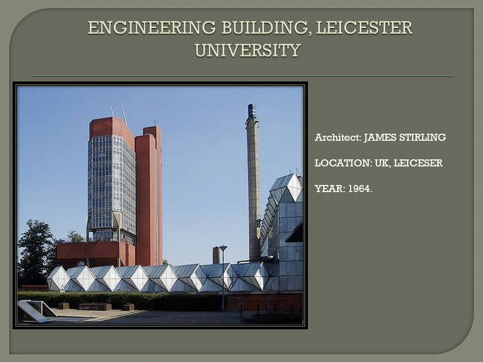 ENGINEERING BUILDING, LEICESTER UNIVERSITY