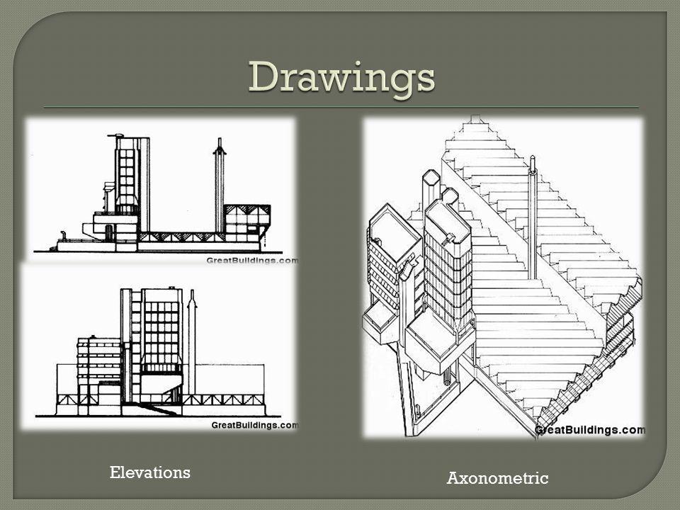 Drawings Elevations Axonometric