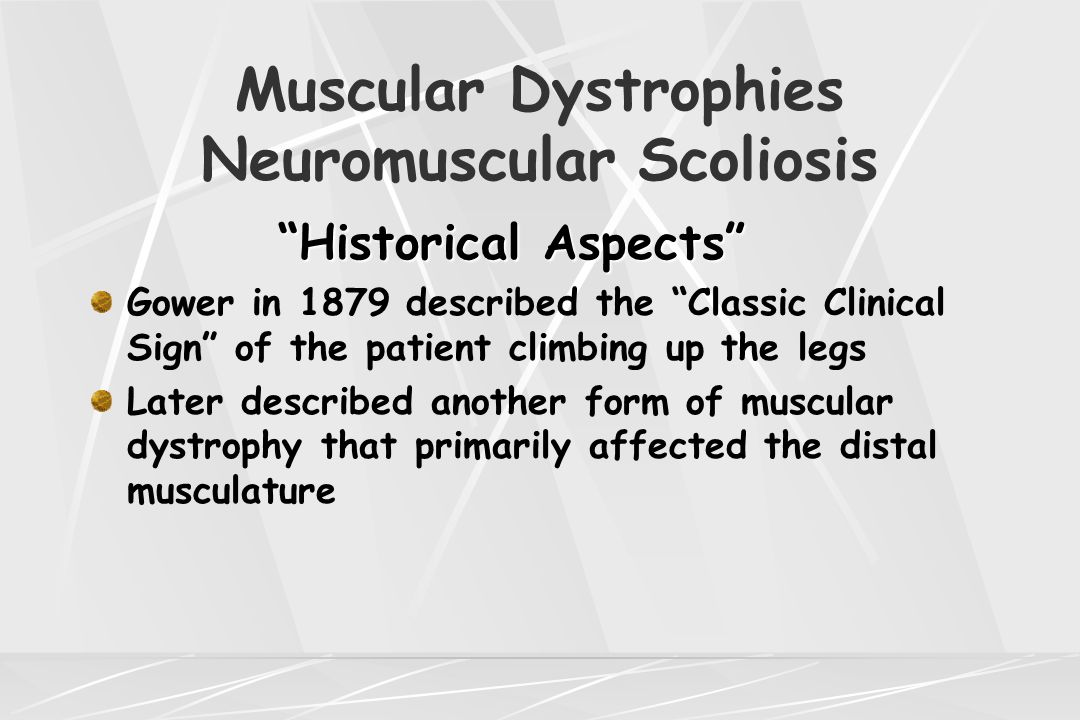 Muscular Dystrophies Neuromuscular Scoliosis