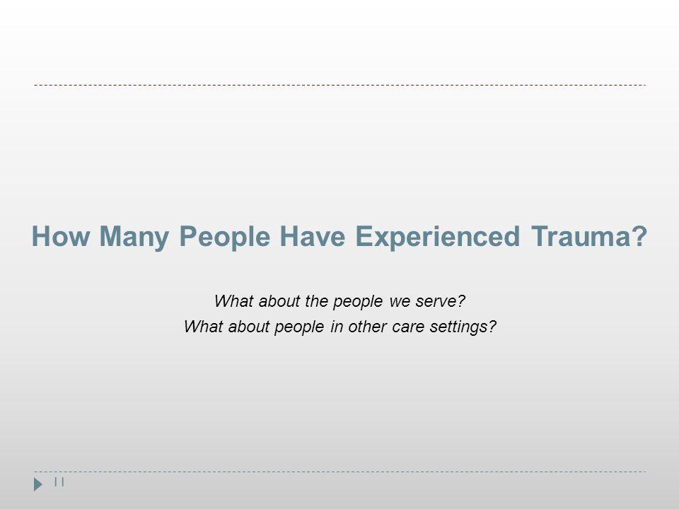 How Many People Have Experienced Trauma