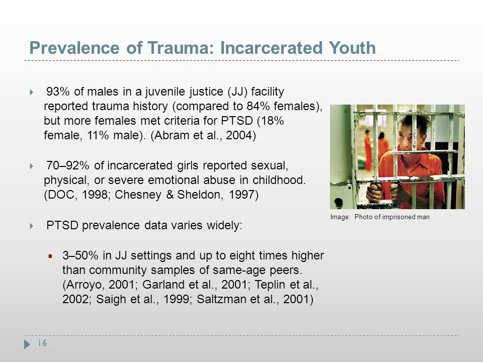 Prevalence of Trauma: Incarcerated Youth