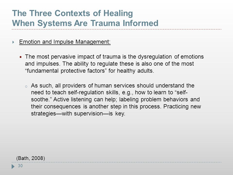 The Three Contexts of Healing When Systems Are Trauma Informed