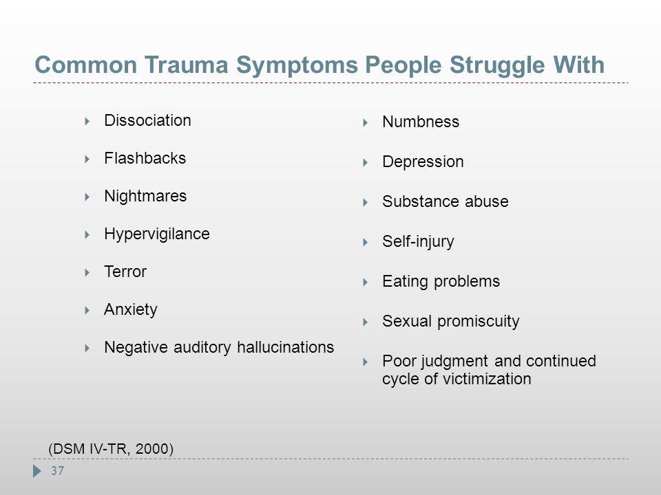 Common Trauma Symptoms People Struggle With