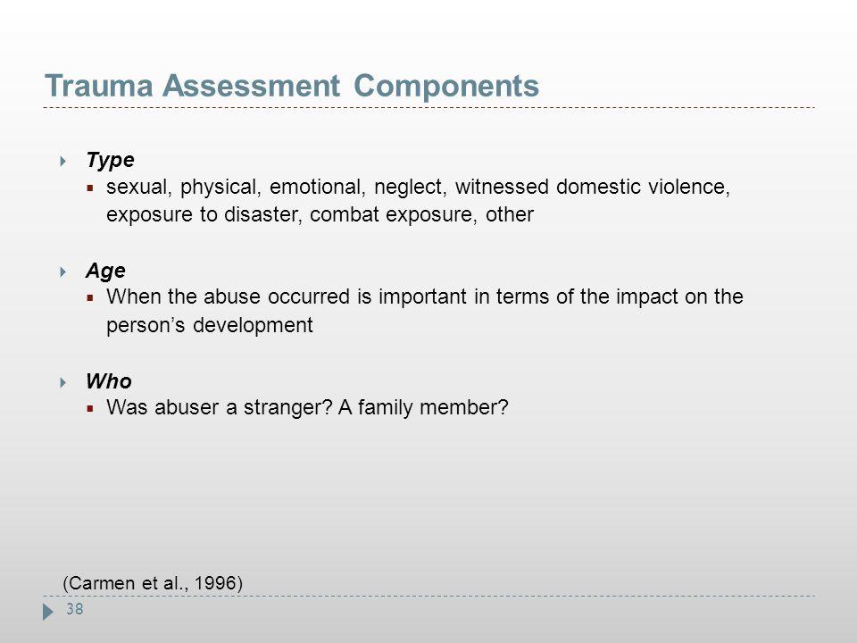 Trauma Assessment Components