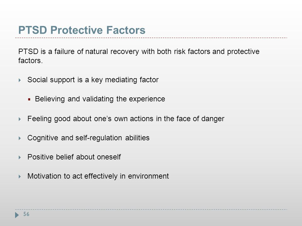 PTSD Protective Factors