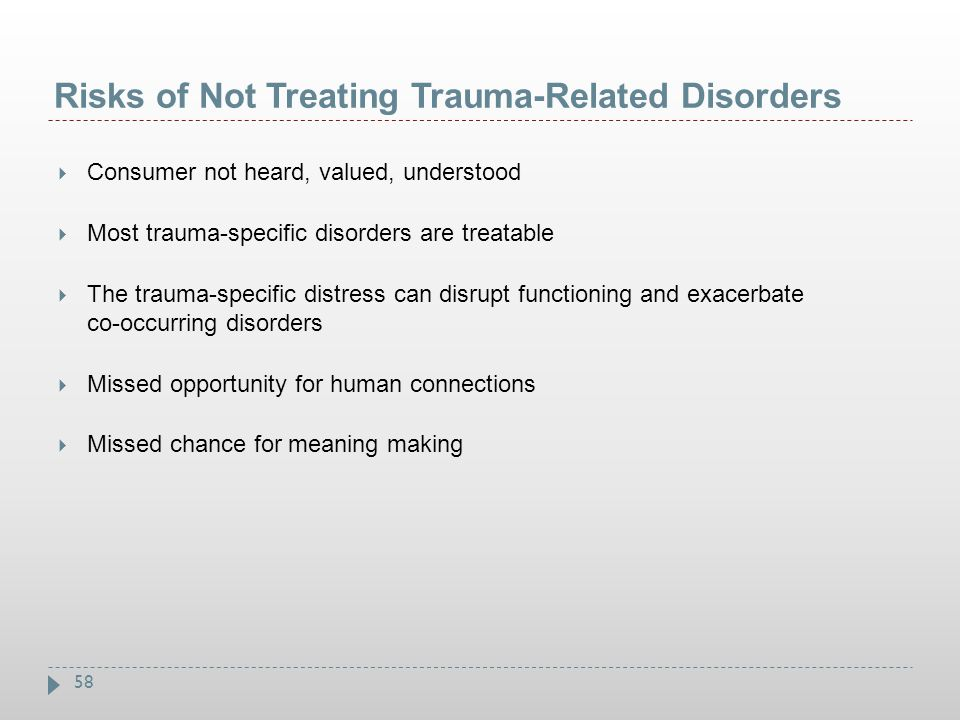 Risks of Not Treating Trauma-Related Disorders