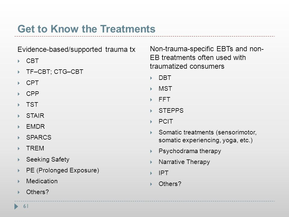 Get to Know the Treatments