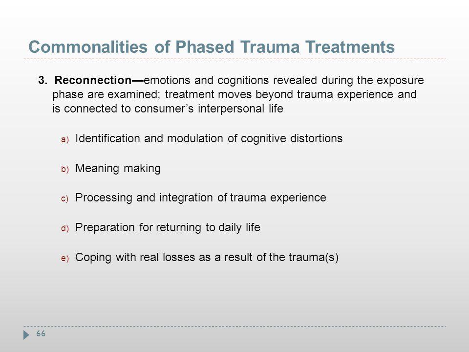 Commonalities of Phased Trauma Treatments