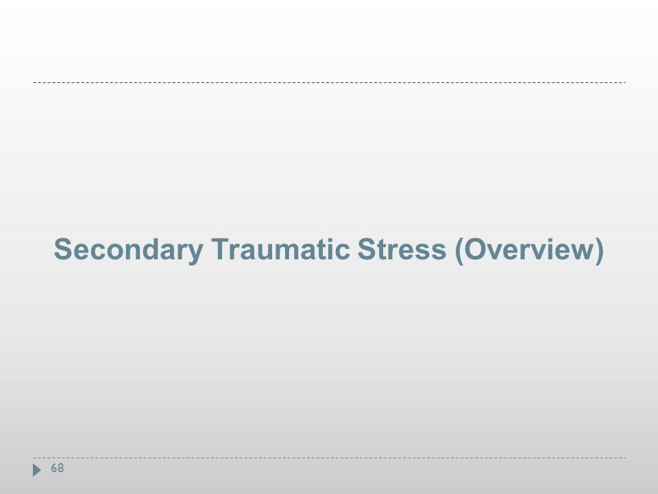 Secondary Traumatic Stress (Overview)