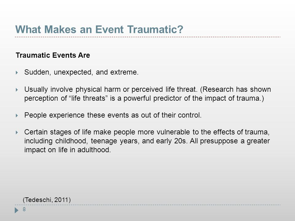 What Makes an Event Traumatic