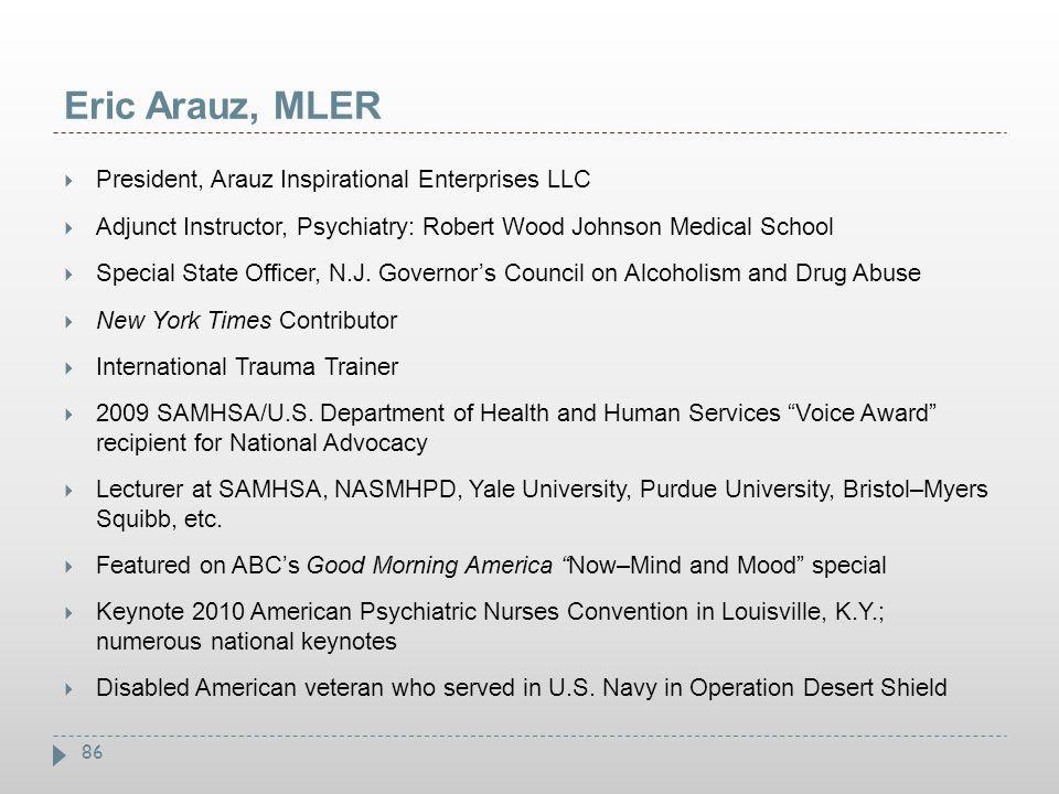 Eric Arauz, MLER President, Arauz Inspirational Enterprises LLC