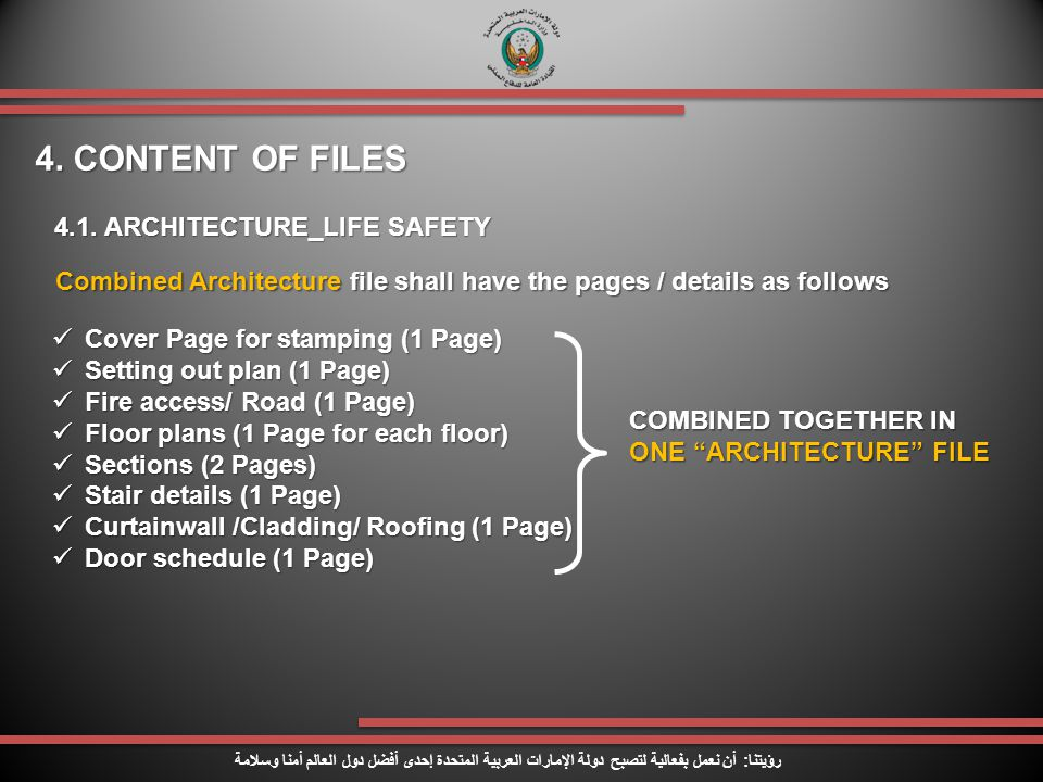4. CONTENT OF FILES 4.1. ARCHITECTURE_LIFE SAFETY