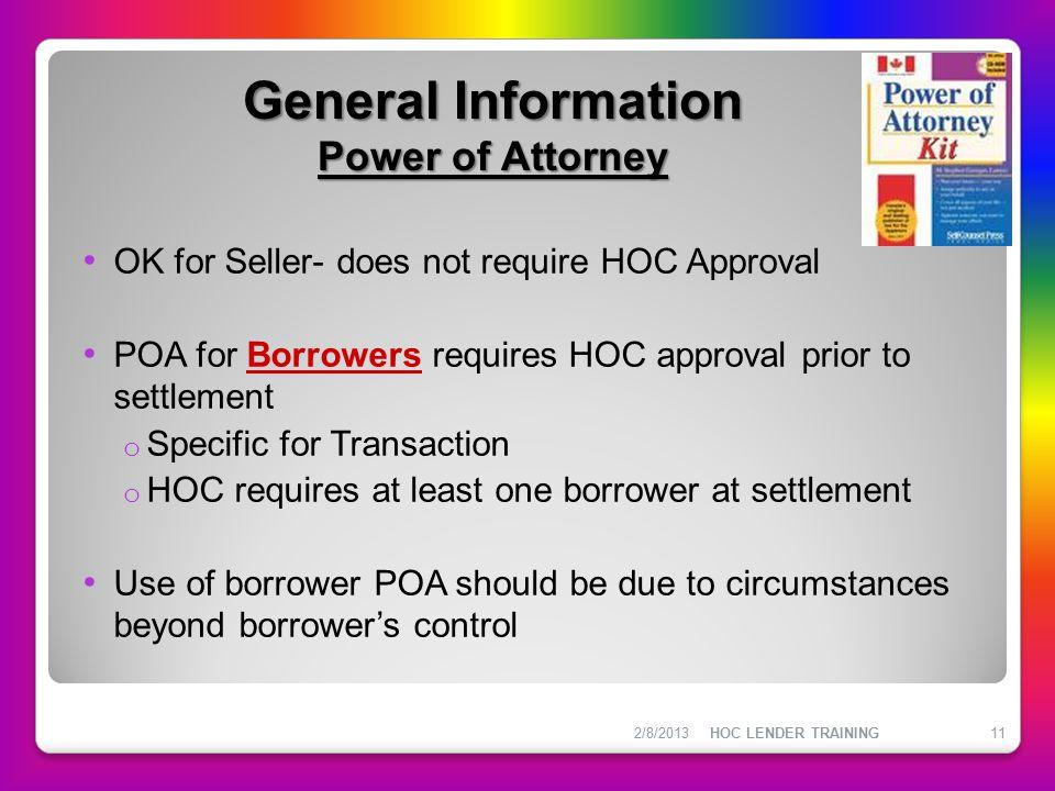 General Information Power of Attorney