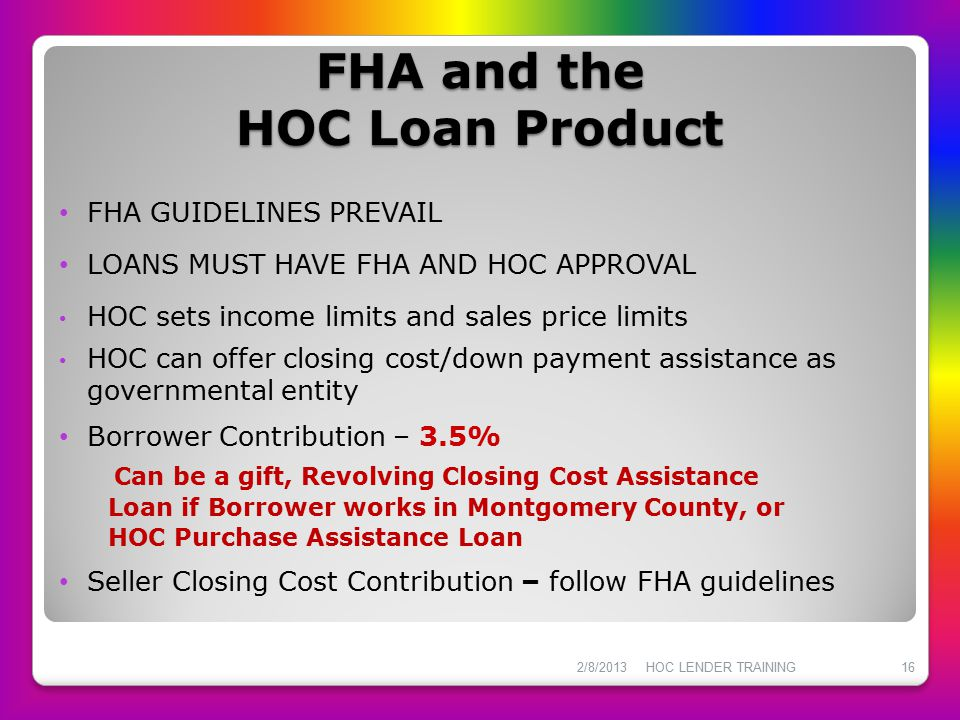 FHA and the HOC Loan Product