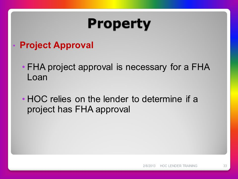Property Project Approval