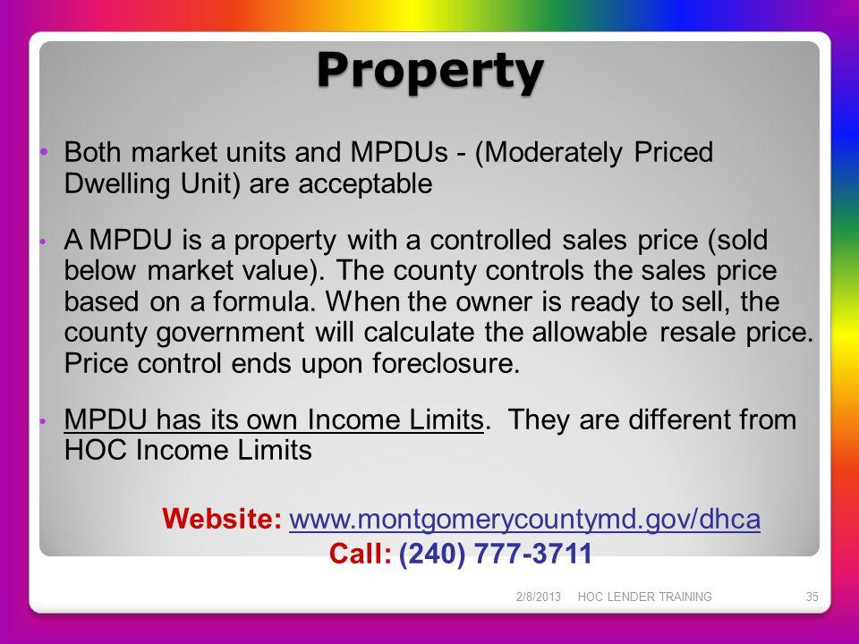 Website: www.montgomerycountymd.gov/dhca
